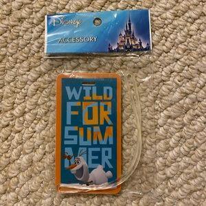 NWT Disney Luggage Travel Tag Olaf Frozen